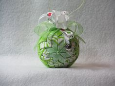 Quilted no sew fabric ornament  green and by KCFabricOrnaments, $15.00
