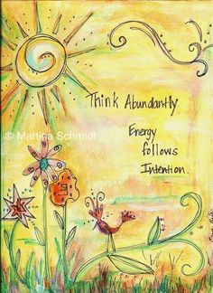 Law of Attraction - Think abundantly. Art Journal Pages, Art Journals, Journal Quotes, Art Journal Inspiration, Yoga Inspiration, Morning Inspiration, Motivation Inspiration, Mellow Yellow, The Life