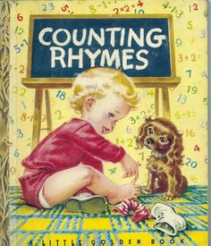 VINTAGE 1940's Children's Little Golden Book~COUNTING RHYMES