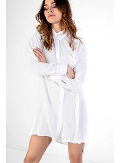 White Swing Shirt Dress