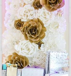 """132 Likes, 4 Comments - PAPER FLOWERS  (@candy_tree_baltimore) on Instagram: """"For the same wedding I made this paper flowers wall ! Live the display! Great job amazing ideas…"""""""