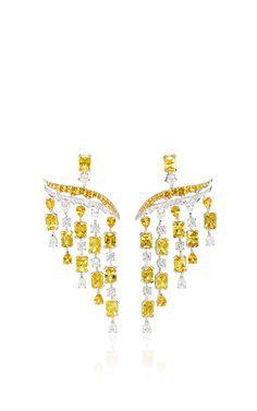 Legends Of Africa Yellow Sapphire Earrings by VANLELES for Preorder on Moda Operandi