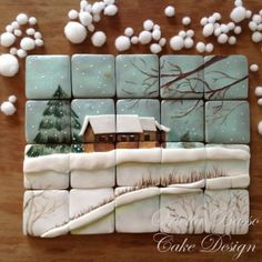 51 Ideas For Painting Christmas Cookies Royal Icing Christmas Sugar Cookies, Christmas Desserts, Christmas Baking, Cookie Monster Cupcakes, Cupcake Cookies, Fancy Cookies, Iced Cookies, Cookie Icing, Royal Icing Cookies