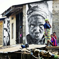 #JR Artist Sierra Leone in Bo City in 2007 ... for the Women Are Heroes project !