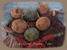 Country Pumpkins  Primitive Dolls and Candy by SweetMeadowsFarm, $8.50