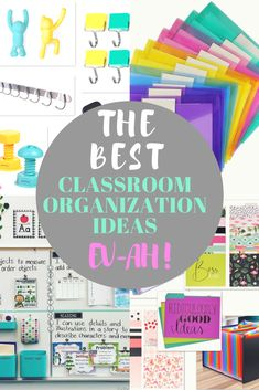 The 83 best classroom organization ideas to get you inspired for the year. Ideas for elementary scho 2nd Grade Classroom, Classroom Setup, Classroom Design, Future Classroom, School Classroom, Classroom Storage Ideas, Teacher Organization, Teacher Hacks, Organization Ideas