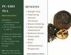 The Beginner's Guide To Pu-erh Tea – Gabriela Green – Detox tea for weight loss Green Tea Detox, Best Green Tea, Detox Tea, Best Teas For Health, Best Tea Brands, Best Matcha Tea, Cabbage Diet, Best Herbal Tea, Pu Erh Tea