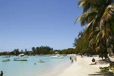 Beach of Grand Baie, Mauritius - June availability.