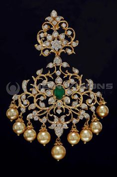 Indian Jewellery and Clothing: Diamond pendants