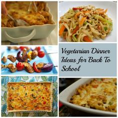 My vegetarian dinner ideas make it easy to include hearty meat free meals even confirmed meat eaters will love in your back to school menu plans.