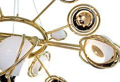 cosmic suspension chandelier dramatic delightfull mid-century  #vintagefloorlamps, #mid-centurymodernlighting, #uniquelamps, #stilnovolamps, #diningtableLamp, #vintagedesklamps, #brasssconces