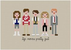 Cross stitch patterns for Ferris Bueller's Day