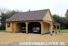 Eiken carport met rieten dak.   Carport / garage   Pinterest ...