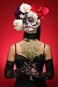 This photo album was shot by photographer Robert Lopshire and features our bold Primary Red Seamless Paper Backdrop in a unique and gorgeous sugar skull themed shoot.