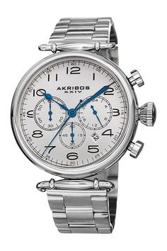 Akribos XXIV Men's Chronograph Swiss Quartz Watch on HauteLook