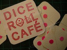 Custom garlands for Dice Roll Cafe, Glasgow