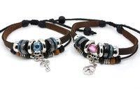 Couple Bracelets Lovers Bracelet Leather Bracelet Charm Bracelet key and lock bracelet Anniversay Gift Boyfriend Girlfriend Gift
