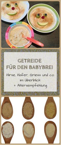 Getreide für den Babybrei: Weizen, Hirse, Griess und co.