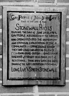 Stonewall, it was a gay bar I was at with my friend, run by the mob. The police raided it and we resisted. It turned into a huge riot, led by Marsha Johnston, god rest her spirit. I regret nothing I did. Stonewall Riots, Lesbian Quotes, Lgbt History, Civil Rights Movement, 27 Years Old, Greenwich Village, Oppression, Gay Pride, Equality