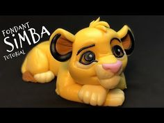 I have a new video tutorial for all confectioners. Today is a Simba Simba Bebe, Baby Simba, Lion King Simba, Fondant Animals Tutorial, Fondant Figures Tutorial, Cake Topper Tutorial, Fondant Flower Cake, Fondant Bow, Fondant Toppers