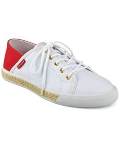 Tommy Hilfiger Flip Sneakers $49.99 Combining the looks of slide-on and traditional styling, Tommy Hilfiger's Flip sneakers freshen up your look in versatile fashion with jute details for natural appeal.