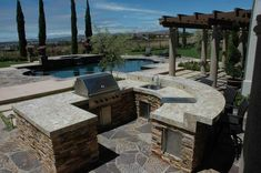 Awesome Backyard! Outdoor Barbeque and Kitchen Landscape Design & Construction Gallery :: AAA Landscape Specialists