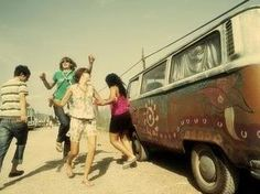 "BBC Boracay says: "" We love this photo - just like a mirror for the way back in time. Freedom and Fun - Peace and Love and a VW van..."""