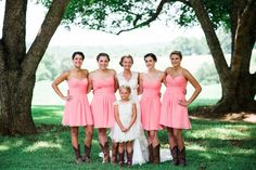 Light Pink Country Wedding
