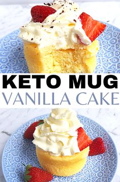 Best ever low carb cake in a mug that's keto-friendly and super delicious. Try this moist and satisfying low carb vanilla mug cake for a quick ketogenic cake. This keto mug cake with cream cheese is the best low carb microwave mug cake you'll try! #ketomugcake #ketodessert Keto Desserts To Buy, Single Serve Desserts, Keto Dessert Easy, Sugar Free Desserts, Diabetic Desserts, Dessert Recipes, Best Mug Cake Recipe Ever, Best Mug Cake Recipes, Chocolate Chip Mug Cake