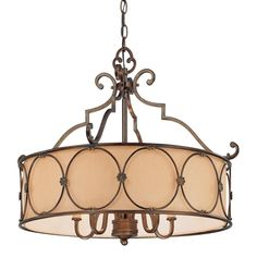 Minka Lavery 4236-288 Atterbury 5 Light Drum Chandelier #MinkaLavery