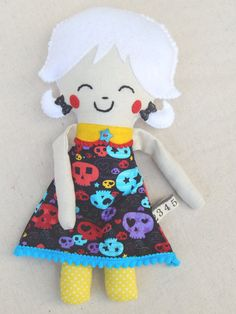 Plush Softie Doll Libbie by MsBittyKnacks on Etsy