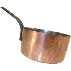Large Antique E. Dehillerin PARIS 3mm French Copper Saucepan Hammered Copper Tin…