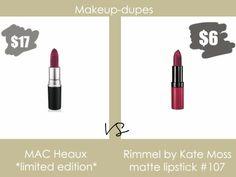 Makeup dupes #macdupe #rimmel #lipstick