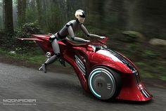 MoonRider by Marko Design, hybrid motorcycle, electric bike