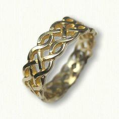 14klt Yellow Gold Celtic Hillsborough Knot Band - pierced & sculpted