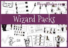 Wizard Printable Packs