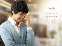 Lee Seung Gi February Calendar Wallpaper