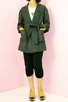[Free Downloadable] Columbo / Belted Long Jacket - Tamanegi-kobo