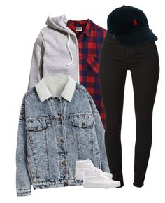 """Untitled #1814"" by dreakagotswagg ❤ liked on Polyvore featuring 7 For All Mankind, Vans and Polo Ralph Lauren"