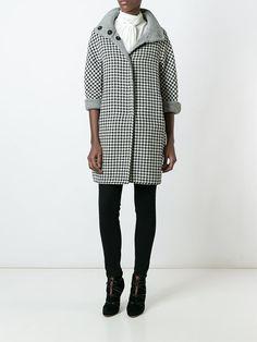 Herno houndstooth pattern coat