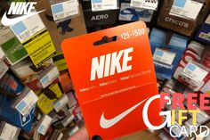 Get free Nike Gift Card code and buy anything for free on Nike. Nike Gift Card, Nike Gifts, Free Gift Cards, Nike Free, Best Deals