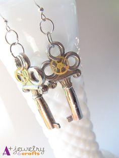 Earrings steampunk earrings steampunk by APlusJewelryCrafts, $10.50