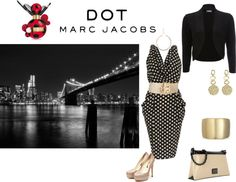 """A""round"" 9 pm - #MARCtheDOT with Marc Jacobs Fragrance"" by tanherb on Polyvore"