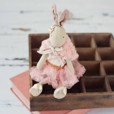 maileg mini rabbit in a rose tulle skirt by armstrong ward   notonthehighstreet.com £39.99