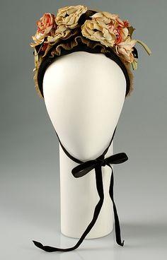 Sally Victor | Bonnet | American | The Met 1941 Medium:Horsehair, linen, cotton