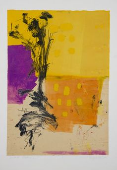 colorful print by Lyna Lou Nordstrom One of my favorite monotypes!  It lives in Montreal now! I created it in Santa Fe working with Ron Pokrasso!