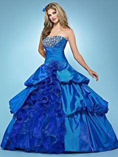 Love the color and the top...could live without the crazy ruffles.