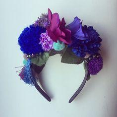 Pom Pom Tassle Floral Flower Crown Festival Head Dress Hair