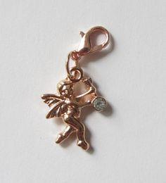 Charms Engel-Anhänger rosegold mit Kristall von soschoen auf DaWanda.com