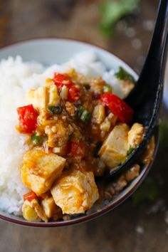Mabodon (Tofu Ground Pork in Spicy Sauce) - Pickled Plum Food And Drinks Ground Turkey Dinners, Dinner With Ground Beef, Ground Turkey Recipes, Turkey Meals, Japanese Tofu Recipes, Easy Asian Recipes, Japanese Food, Japanese Flowers, Slow Cooker Beans